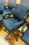 Black mesh back office chairs