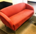 Red love seat
