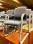 Gray Guest Chairs by Steelcase