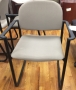 Gray stacker chair