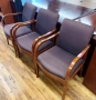 Cherry Wood Frame guest chairs