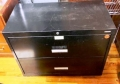 2 drawer black metal lateral  file