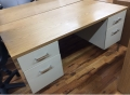 oak wood desk