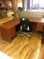 L shaped Laminate desk