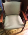 Wood framed guest chairs