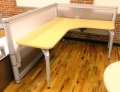 Wood Veneer L shaped used desk