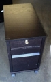 Black Wood three drawer mobil ped
