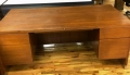 Wood Steelcase Desk