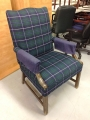 Plaid print chair