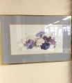 Horizontal Flower Art with Gold Frame