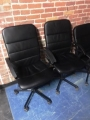 Leatherette chairs