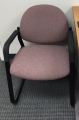 maroon sled guest chairs