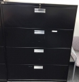 black 4 drawer lateral