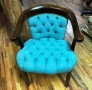 Tufted wood frame chair