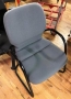 Steelcase Gray Sled chairs