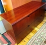 Cherry wood filing credenza