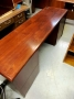 Wood Veneer Kneehole credenza / desk