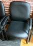 Bonded leather black guest chairs