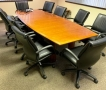 Boat shaped Wood Veneer conference table