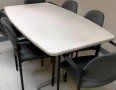 Gray Laminate boat shaped conference table