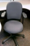 gray fabric Steelcase task chair