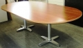 Cherry finish race track conference table