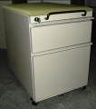 Knoll Box File pedestal with light green fabric top lock with ke