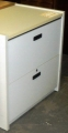 Gray laminate lateral file cabinet