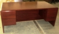 Mahogany color laminate desk